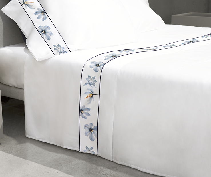 Zafferano Border flat sheet