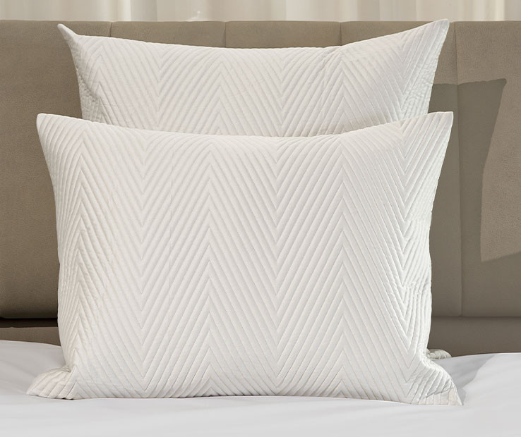 Letizia quilted decorative pillow sham